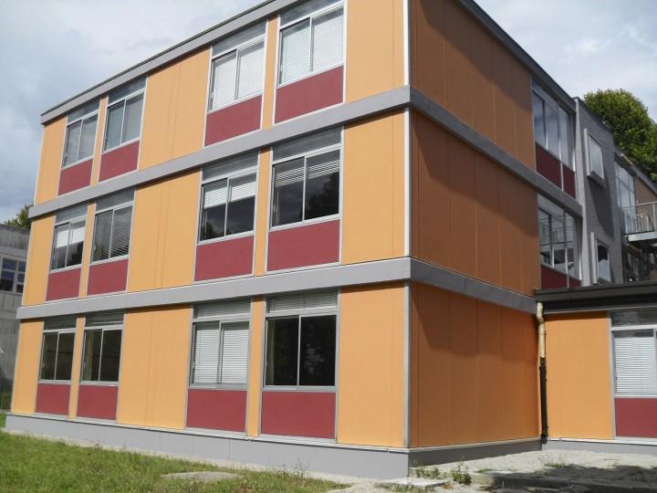 Incapsulamento amianto: prima vista esterna scuola bonificata nel Nord Italia